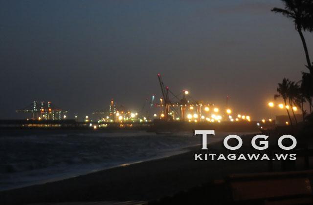 トーゴ 夜景 ビーチ