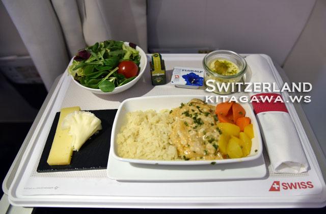 スイス航空 ビジネスクラス機内食