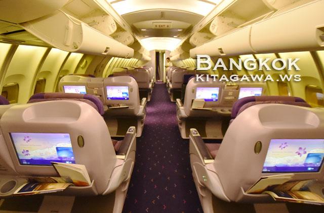 タイ航空 ジャンボジェット アッパーデッキ