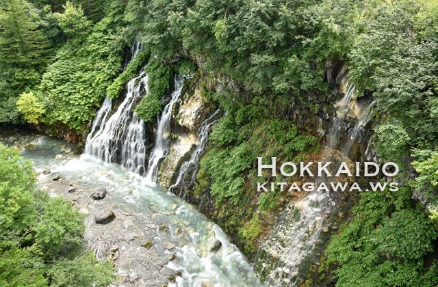 白ひげの滝 不動の滝 北海道