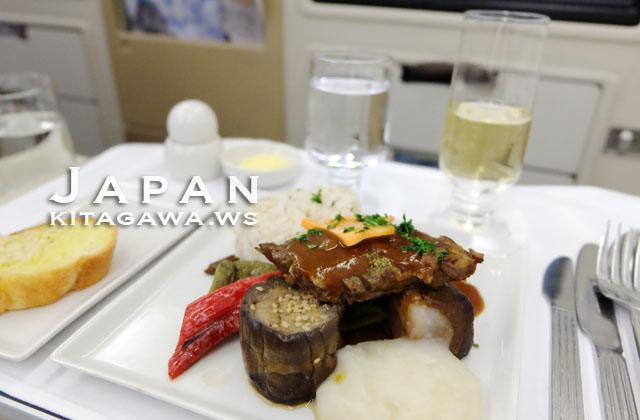 シンガポール航空ビジネスクラス洋食