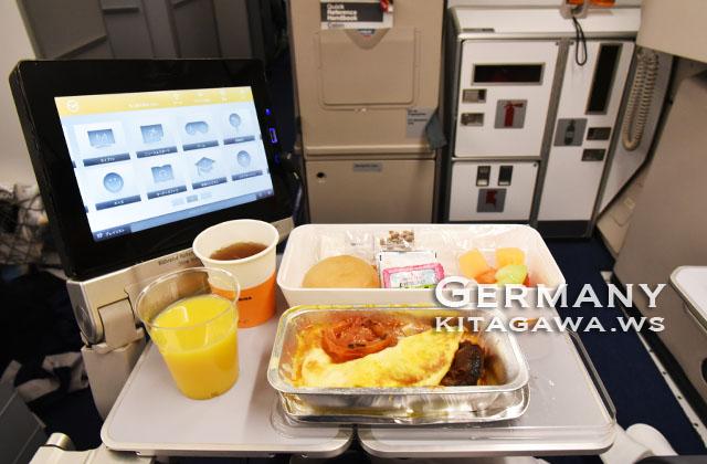 ルフトハンザドイツ航空 朝食