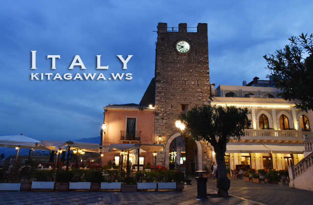 タオルミーナ 時計塔