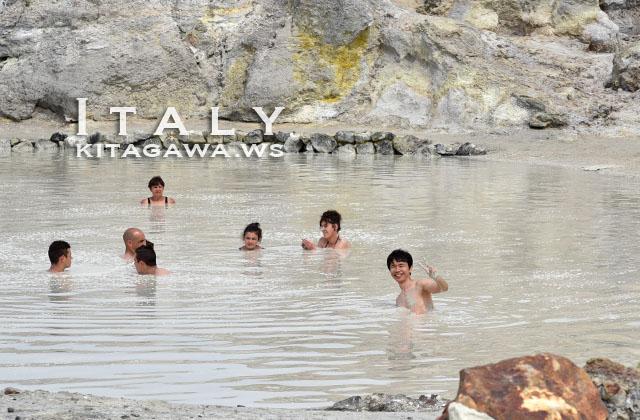 ヴルカーノ島 泥沼温泉