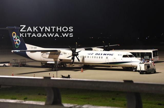 ザキントス島 飛行機