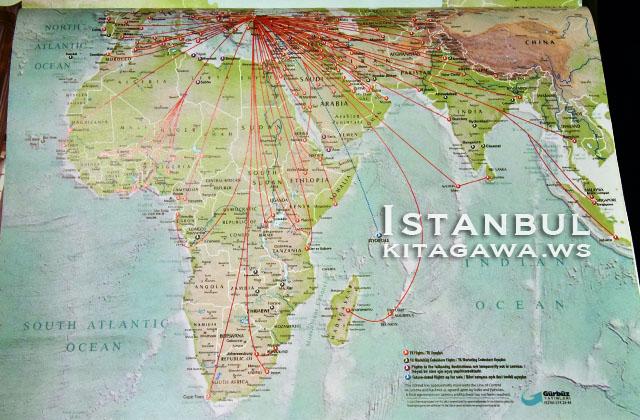 トルコ航空 路線図