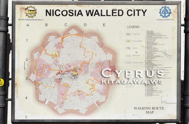 キプロス島 ニコシア地図