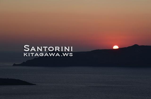 サントリーニ 夕陽