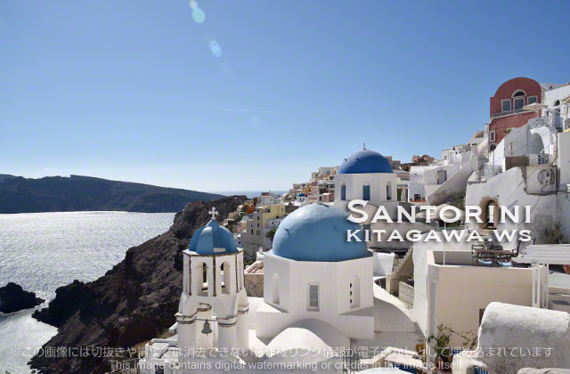 ギリシャ 青い屋根