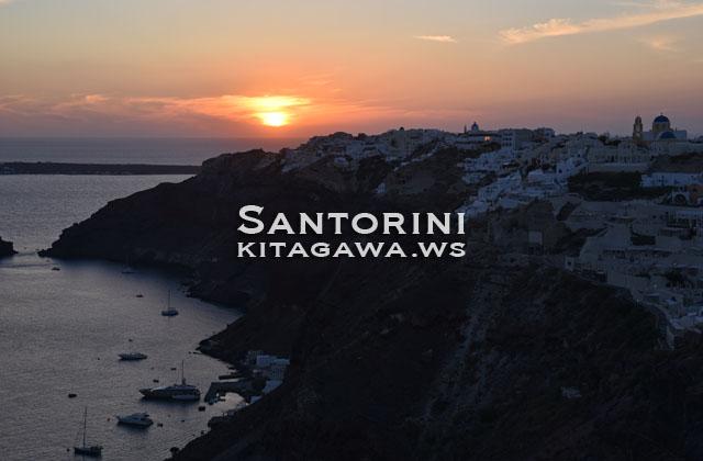 ギリシャ サントリーニ 夕日