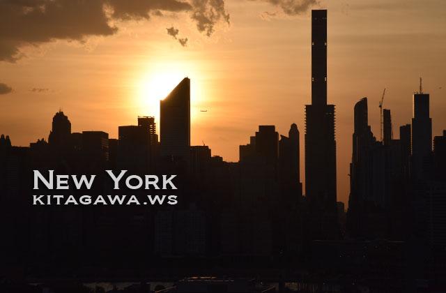 ニューヨーク 夕陽 マンハッタン