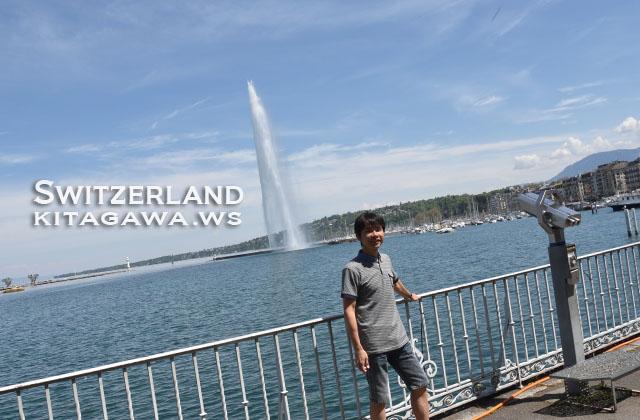 ジュネーブ観光 大噴水 スイス旅行記