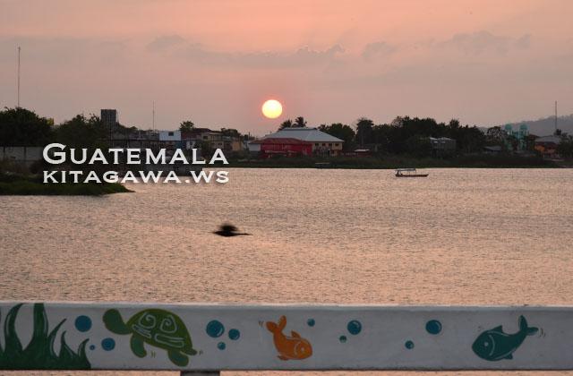 グアテマラ 夕陽 サンセット