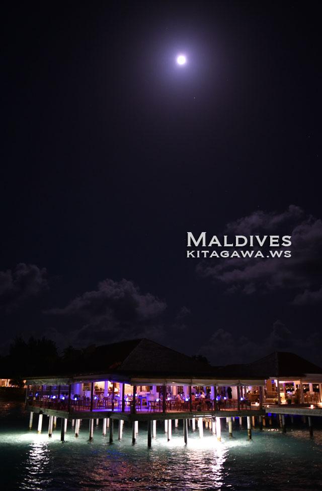 モルディブ 満月