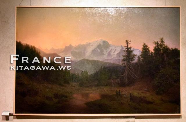 Paul Cabaud, Le Mont-Blanc vu du col des Aravis, soleil levant