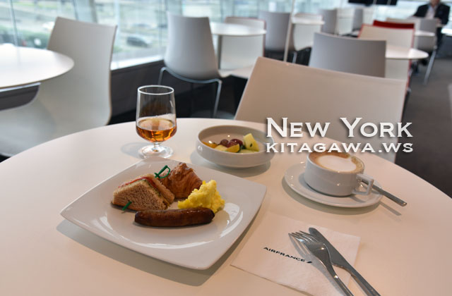 JAL Air France Lounge JFK