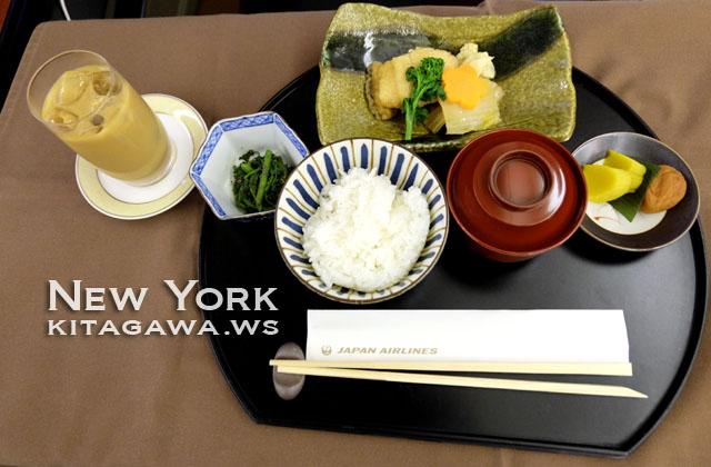 JAL ファーストクラス 朝食
