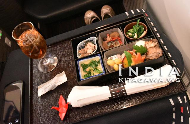 日本航空ビジネスクラス機内食