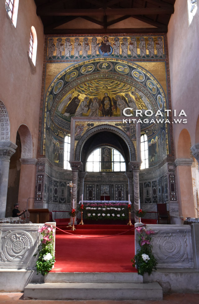 ポレッチ歴史地区にあるエウフラシウス聖堂の司教建造物群