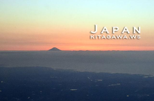 富士山 日没