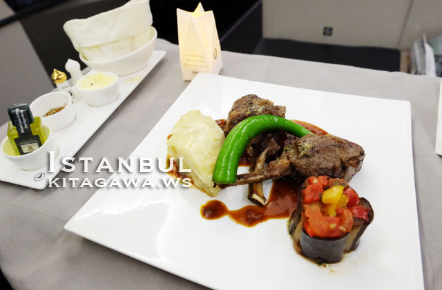 ビジネスクラス 機内食
