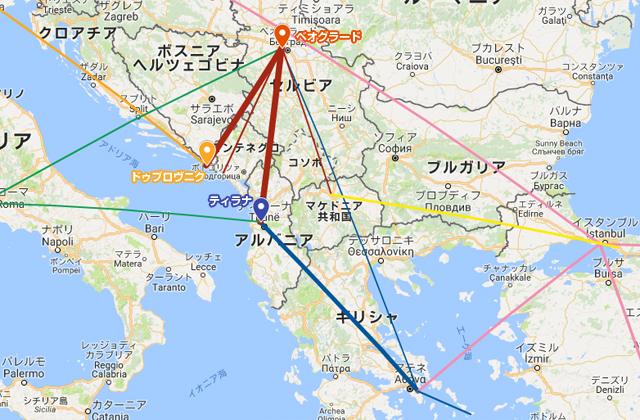バルカン半島 路線図
