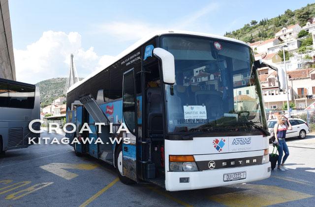 ドブロブニク空港から市内へのバス