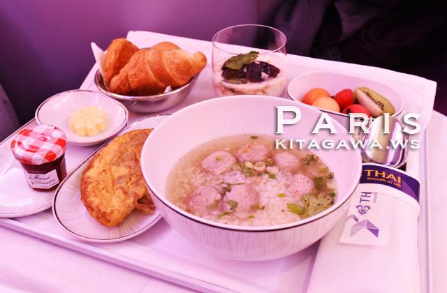 タイ航空 ビジネスクラス 機内食