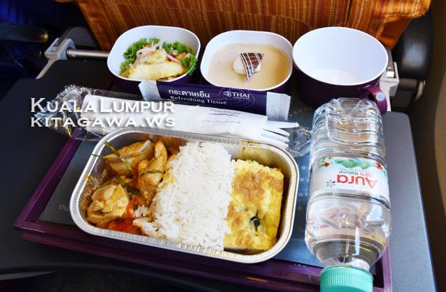 タイ航空エコノミークラス機内食