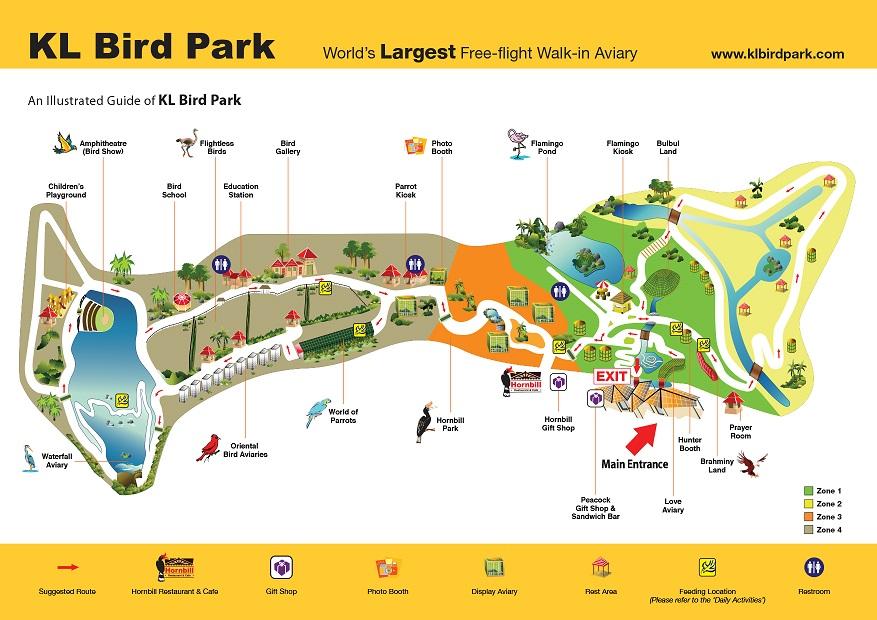 KL Bird Park Map