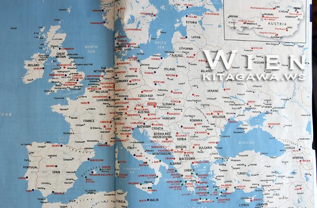 オーストリア航空 就航都市
