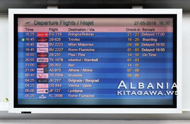 アルバニア 空路 航空会社