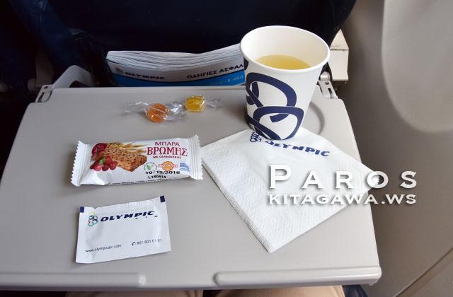 オリンピック航空 機内サービス