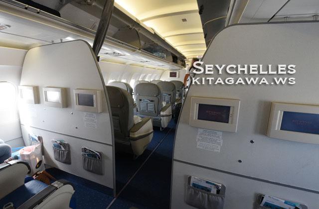 セーシェル航空エコノミークラス
