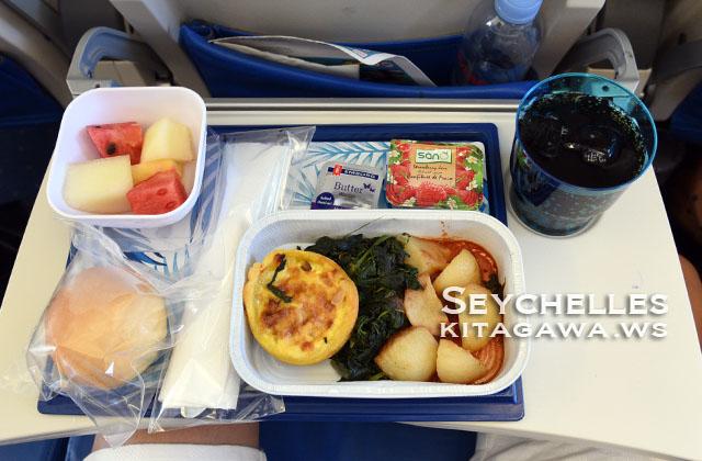 セーシェル航空 機内食