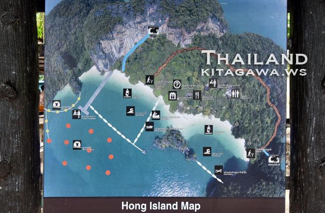 Ko Hong Map ホン島地図