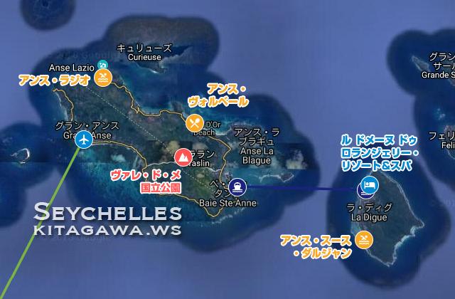 セーシェル離島マップ