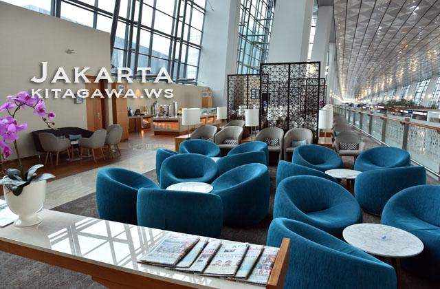 ガルーダインドネシア航空 ジャカルタ ビジネスクラス ラウンジ