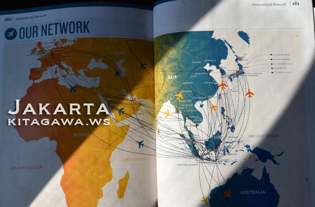 ガルーダインドネシア 路線図
