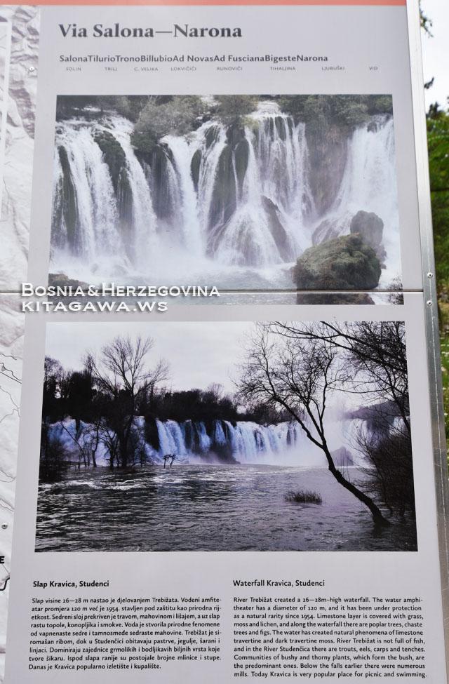 Waterfall Kravica, Studenci