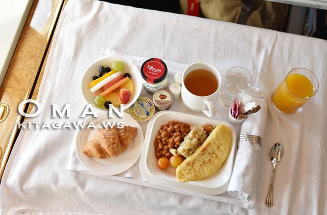 エミレーツ航空ファーストクラス機内食