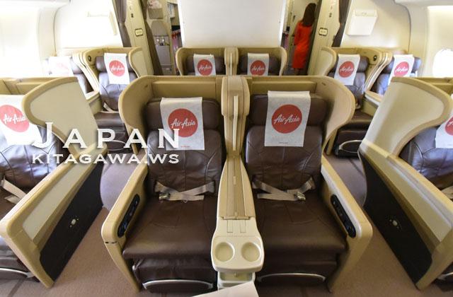 エアアジアなのにシンガポール航空のシート