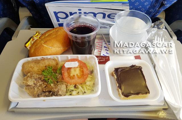 マダガスカル航空 機内食