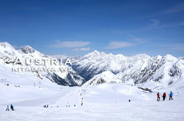オーストリア 氷河スキー