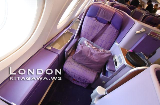 タイ航空A380ビジネスクラス シート