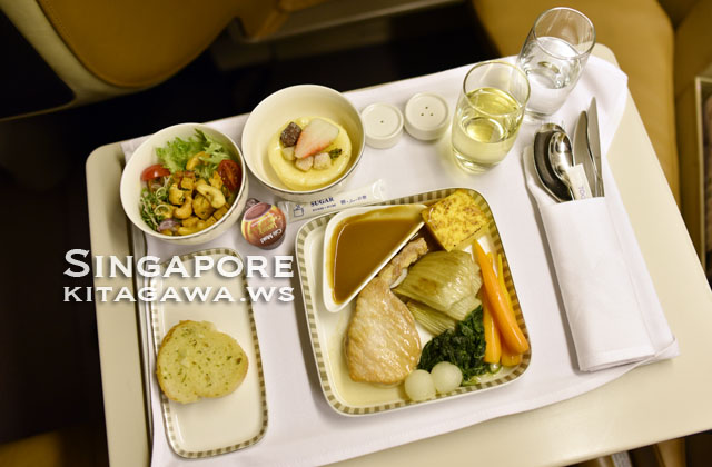 シンガポール航空 ビジネスクラス機内食