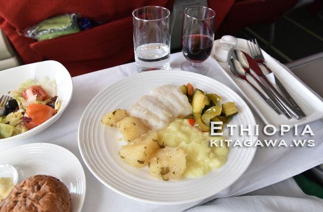 エチオピア航空 ビジネスクラス 機内食
