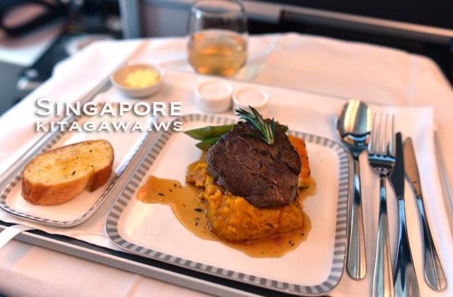 シンガポール航空 機内食 洋食