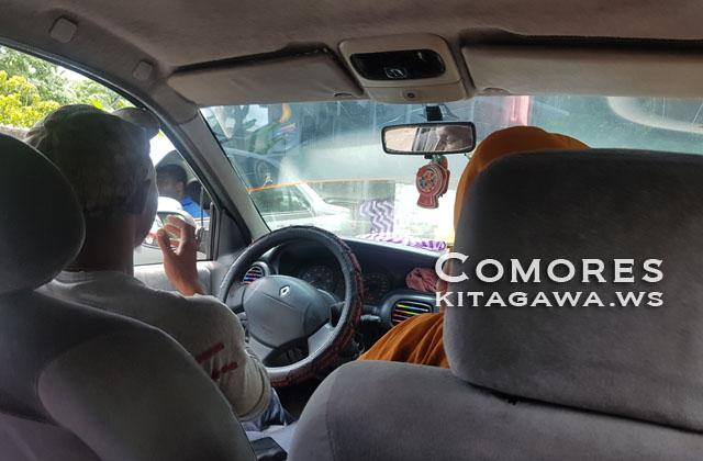 コモロ 乗り合いタクシー
