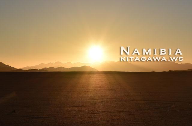 ナミブ砂漠 サンセット